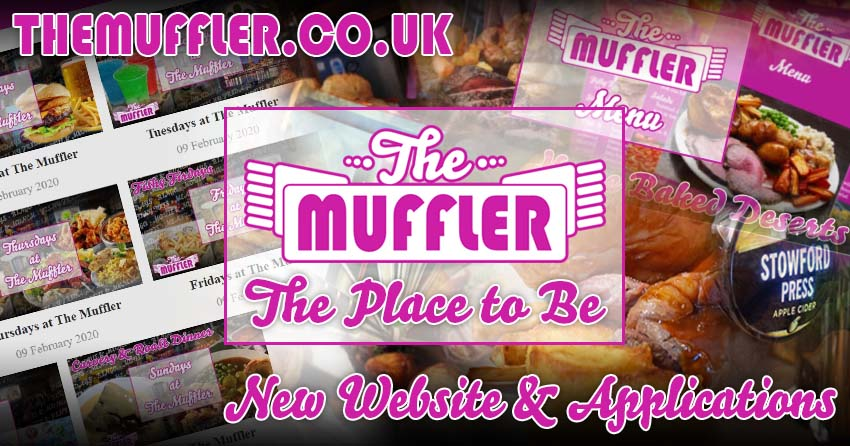 The Muffler Website and Apps Launch banner image