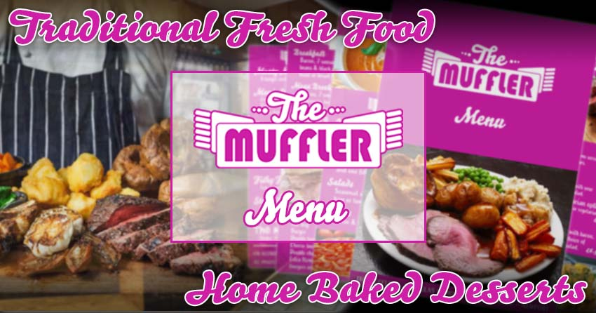 Traditional Fresh Food Menu at The Muffler banner image