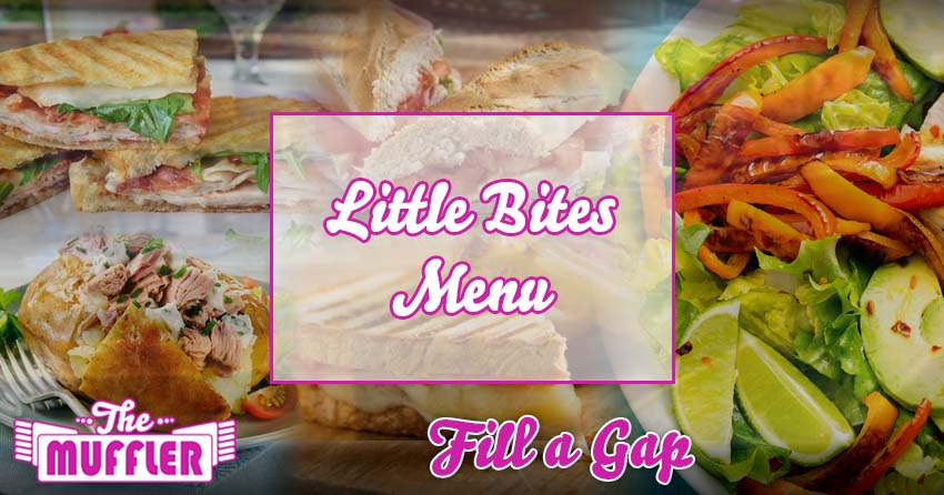 The Muffler Lite  Bites Menu banner image