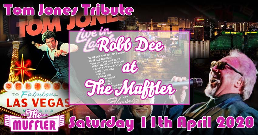 Robb Dee, Tom Jones Tribute at The Muffler - 11th April 2020 banner image